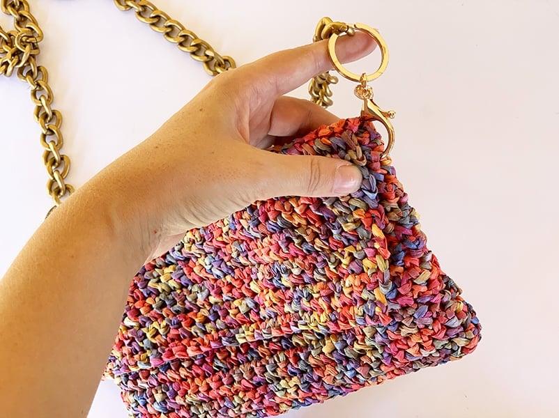 adding the bag strap