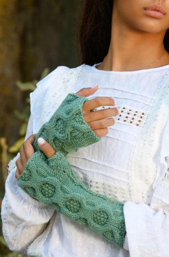 River Run Fingerless Mitts Knitting Pattern