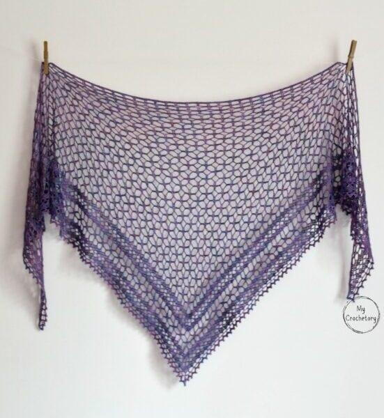 crochet light weight shawl