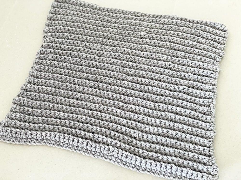ribbed crochet dishcloth
