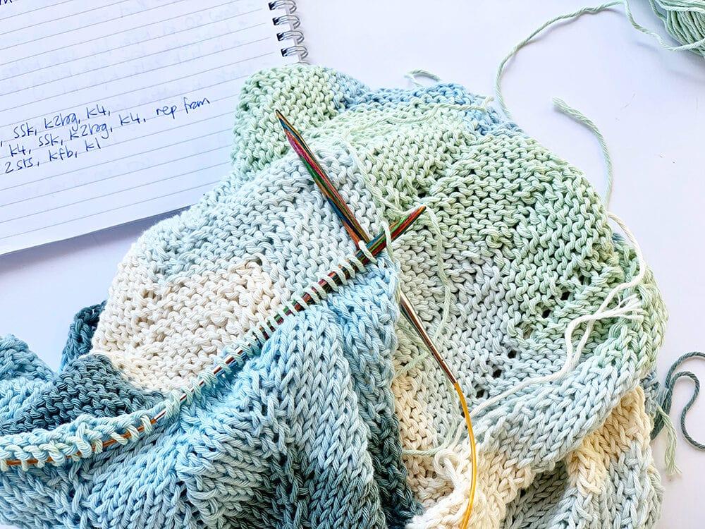 sea glass shawl pattern