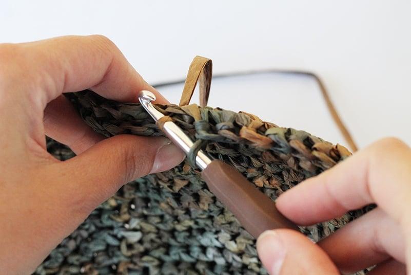 seaming the bag sides together