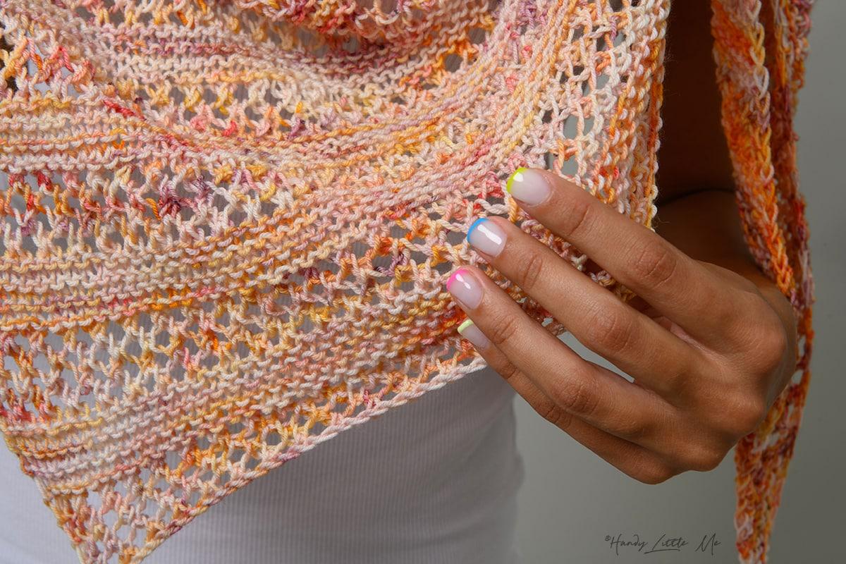 shawl stitch pattern close up