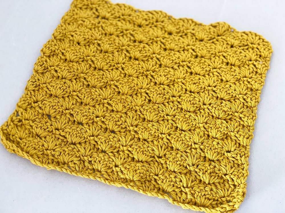 shells crochet dishcloth