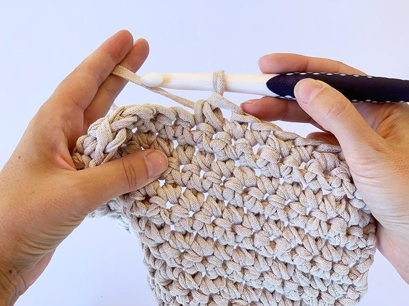 completed single crochet decrease