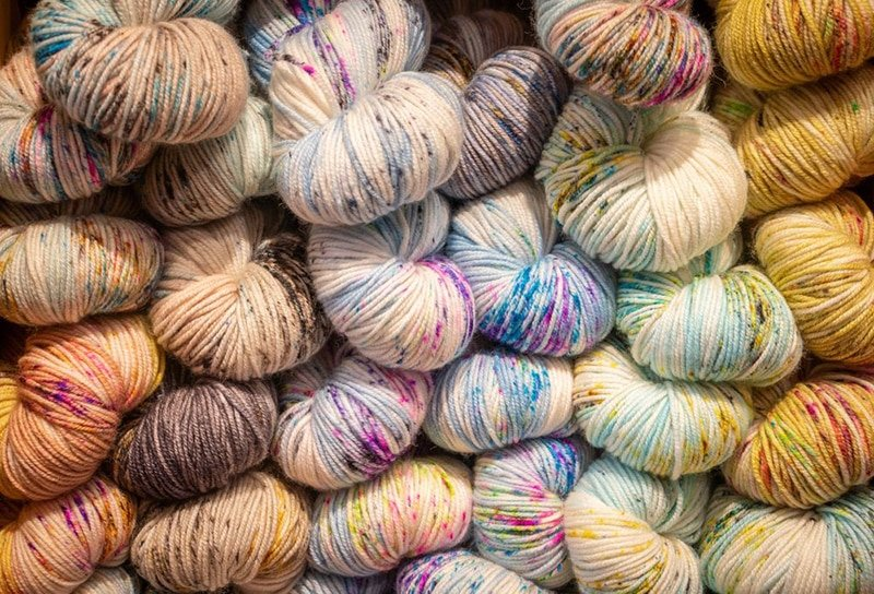 sock yarn hand dyed skeins