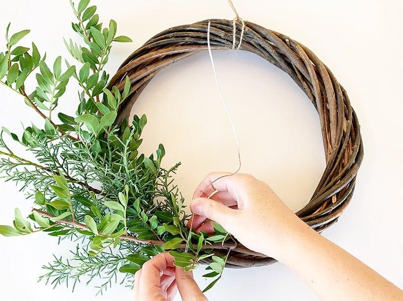 step 4 wreath