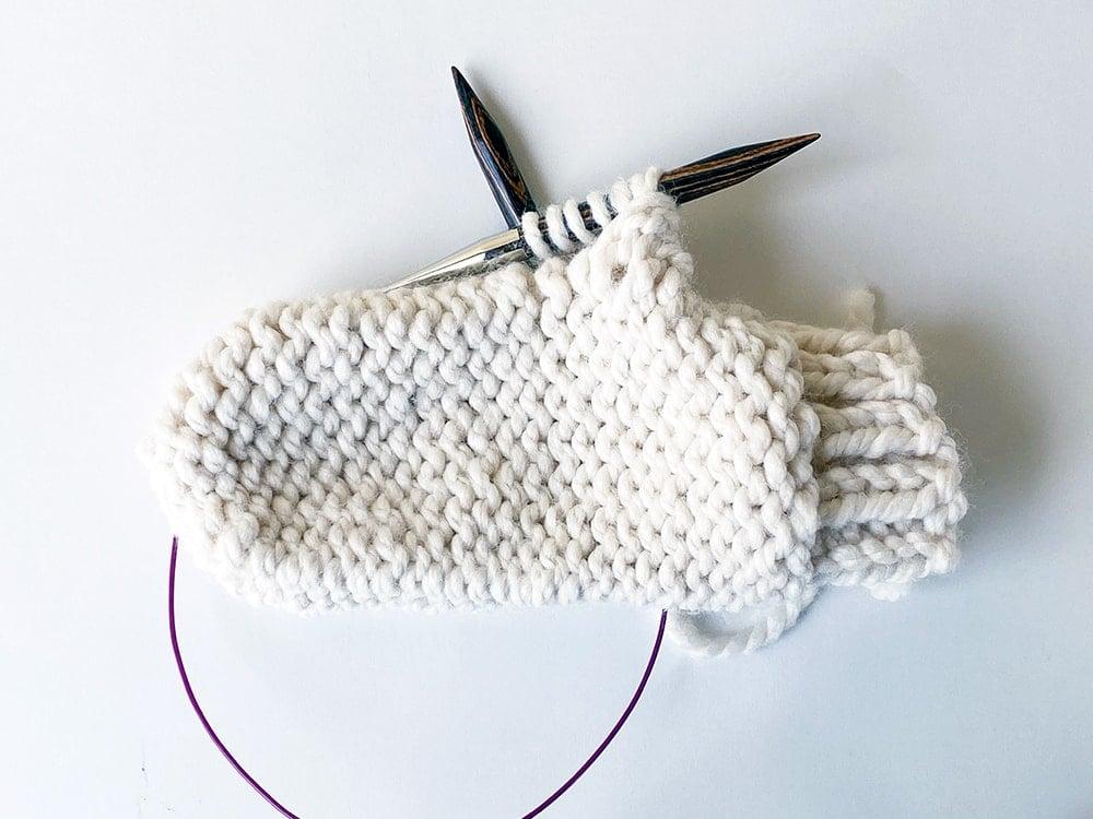 knitting chunky mittens