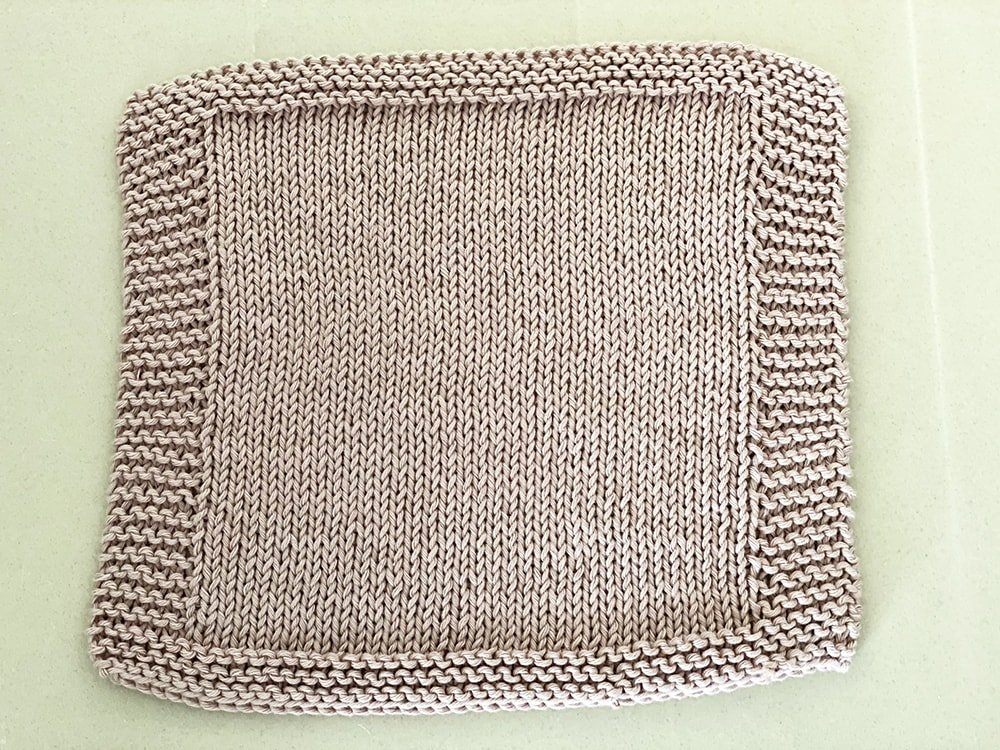 stocking stitch dishcloth knitting