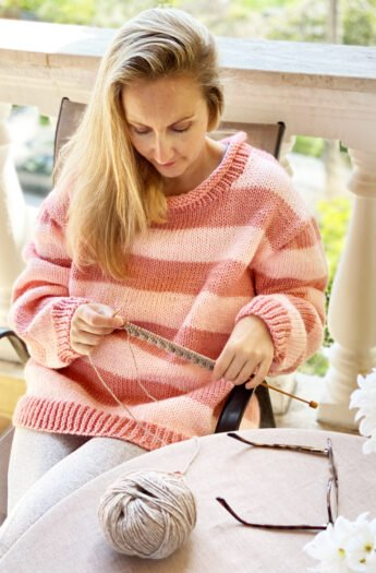 Striped Sweater Knitting Pattern {From Small to 3X}