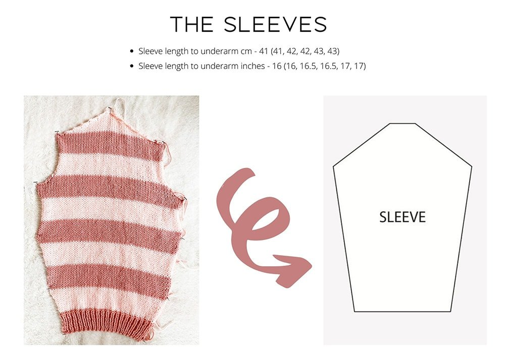 striped sweater sleeves