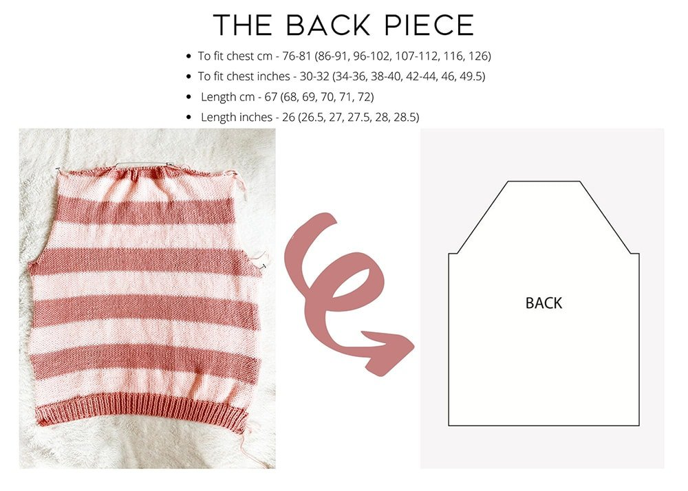 striped sweater the back piece