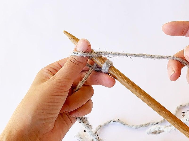 wrap the yarn around the needle