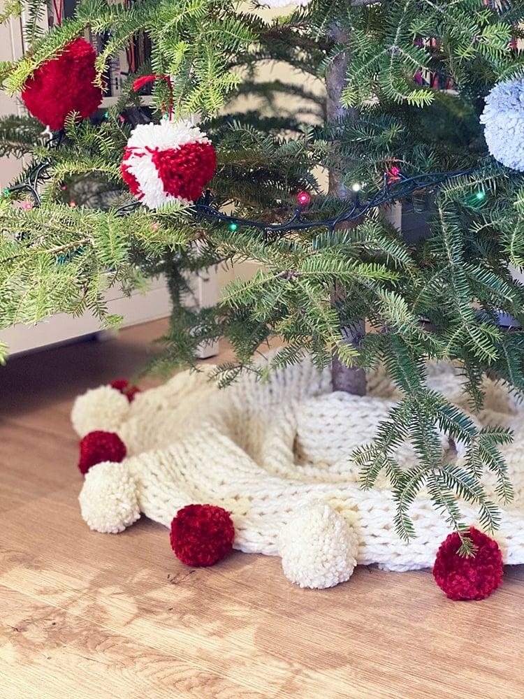 tree skirt super chunky knit