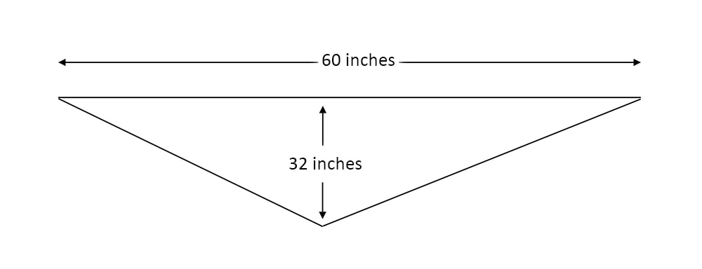 triangle scarf measurements