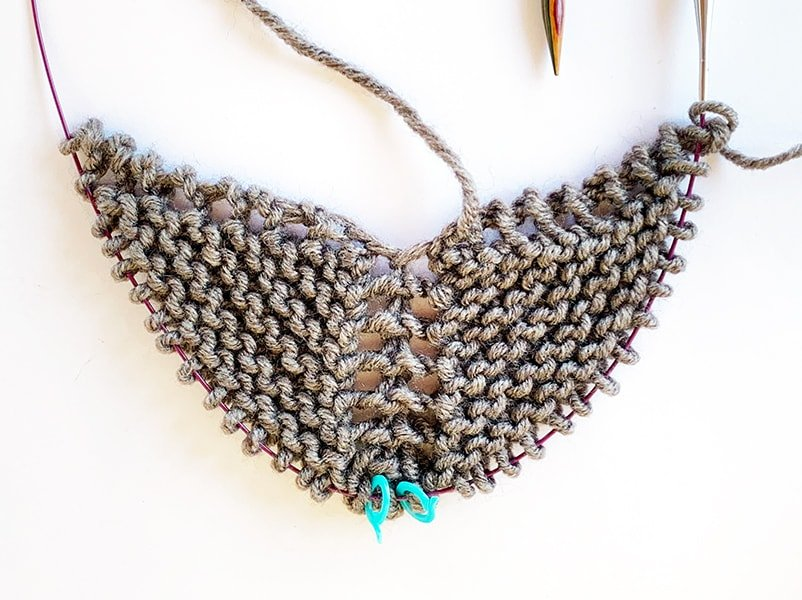 triangle shawl tutorial