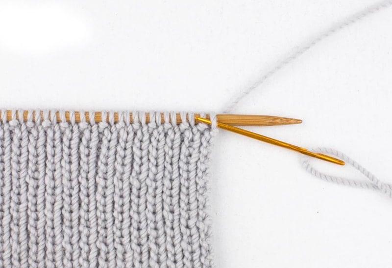 the tubular bind off on the needles