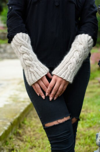 The Wedding Cable Knit Arm Warmers Pattern
