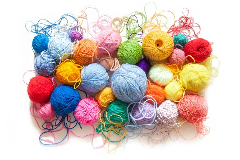 colourful yarn collection