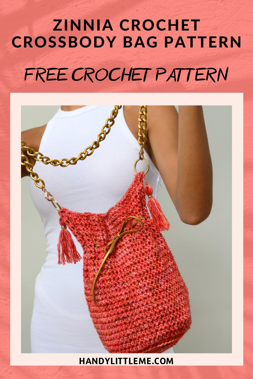 Zinnia Crossbody Bag Crochet Pattern